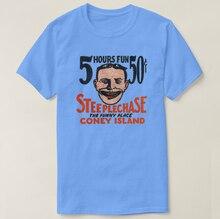 2019 Printed Men T Shirt Cotton Short Sleeve  Vintage Coney Island Funny Face Design T-Shirt  Women tshirt
