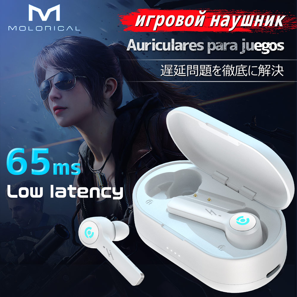 Gaming Headset Bluetooth Wireless Headphones 6D Surround Sound Stereo Bluetooth Earphone Microphone