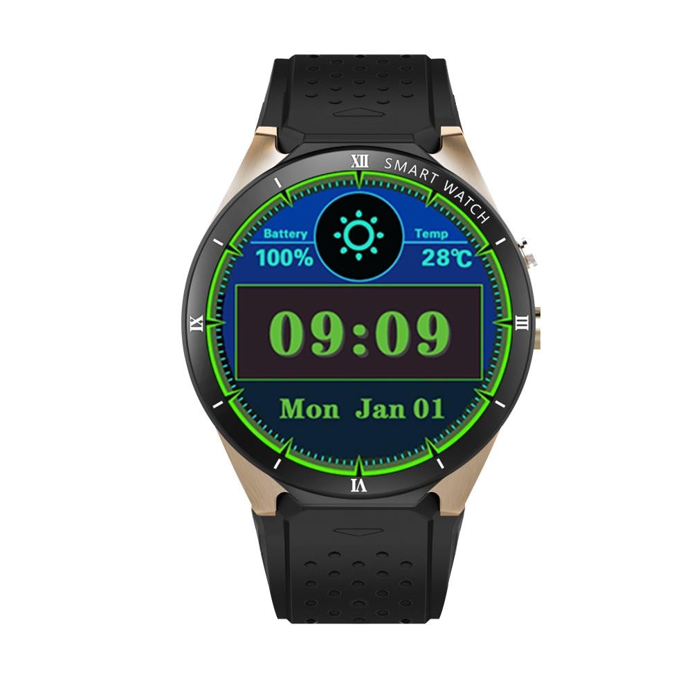 KW88 Pro 3G reloj inteligente teléfono Android 7,0 Quad Core 1,3 GHz 1GB 16GB Bluetooth 4,0 reloj inteligente teléfono reloj inteligente GPS para Android