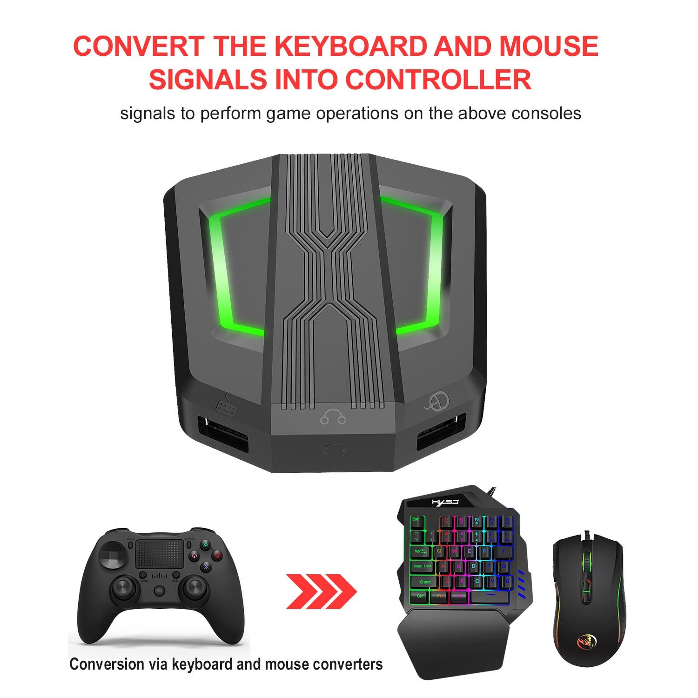Hxsj P6 Toetsenbord Muis Converter Adapter Muis Keyboard Controller Compatibel Met PS4/PS3/Xbox One/Xbox 360/N-Schakelaar