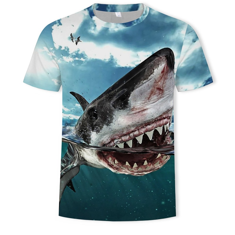 2021 Summer Hot-selling Casual Men's and Women's Tops 3D Printed T-shirt Wild Fishing Pattern Fashion Personality Short Sleeves