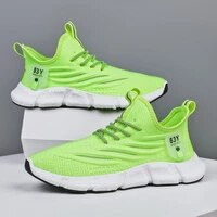 breathable mesh shoes men white casual shoes knitted shoes light running sport shoes cheap sock sneakers jogging fitness shoes