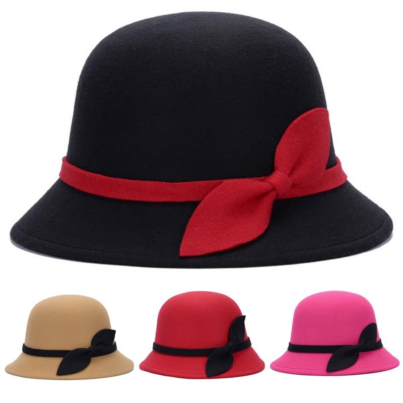 Chapéu de lã de feltro quente chapéu de feltro de inverno chapéu de feltro de lã de inverno