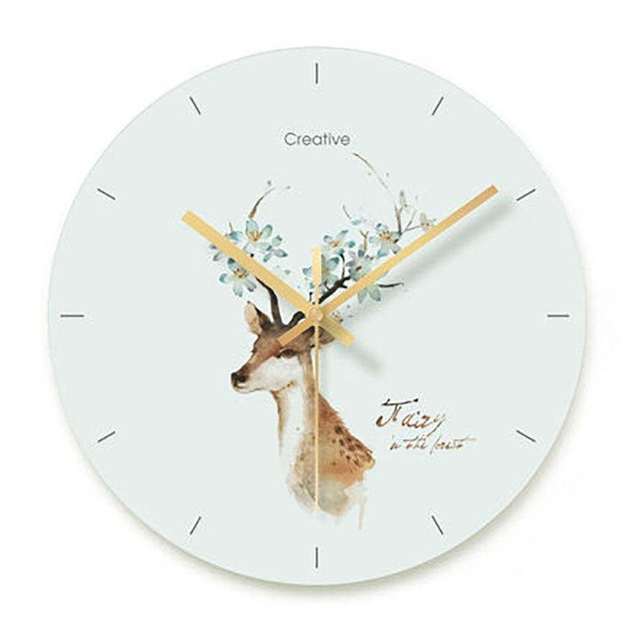 Reloj De Pared nórdico silencioso, moderno, De Cristal, creativo, sencillo, para el hogar, decoración De sala De estar, MM50WC