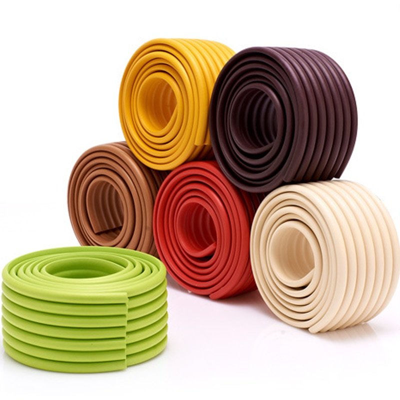 2M Child Protection Corner Cover Protector Baby Safety Guards Edge Corner Guard Solid Angle Table Corners Strip For Furniture