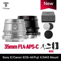 TTArtisan Camera Lens 35mm F1 4 APS-C Manual Focus For SONY E FUJI X Canon M Leica L Nikon Z Panasonic Olympus M43 Mount