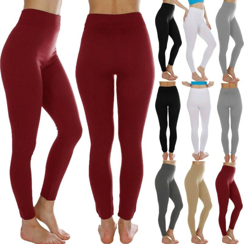 Mallas de Yoga para mujer, pantalones cálidos de cintura alta para Fitness, pantalones deportivos para gimnasio y trotar
