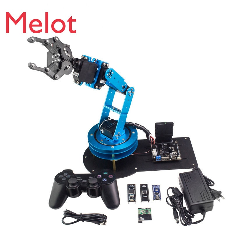Mechanical Arm Learm/STM/51 Single Chip Microcomputer Open Source Hardware Programmable DIY Maker Robot Kit