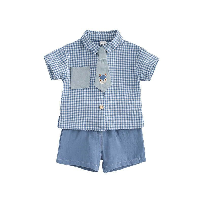 Купить с кэшбэком Spanish Baby Toddler Sets for Little Boys Summer Suits Children's Shorts Baby Girl Outfit Muslin Clothes for Child Boys Clothing