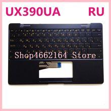 Nouveau clavier dordinateur portable de couverture supérieure dassemblage de boîtier supérieur de Palmrest pour Asus ZenBook 3 UX390 UX390UA UX390U avec le clavier bleu rétro-éclairé