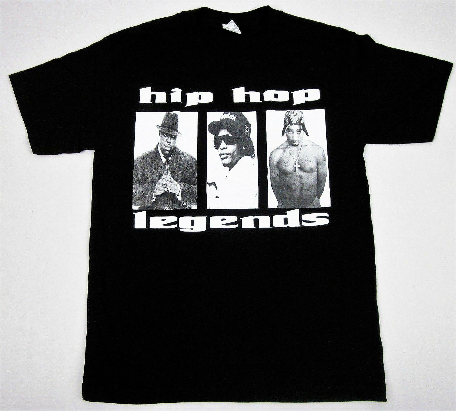Футболка TUPAC BIGGIE EazyE, легендарды хип-хопа, рэп, известный B.I.G. 2 шт., для взрослых