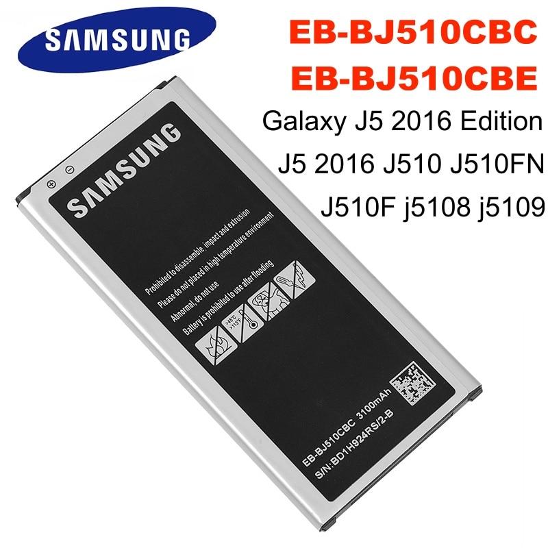 EB-BJ510CBC EB-BJ510CBE 3100mAh SAMSUNG Bateria Do Telefone Para Samsung Galaxy J5 2016 Edição J5 2016 J510 J510FN J510F j5108 j5109