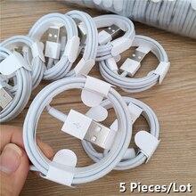 5PCS/Lot 1M TPE Charging Cable For iPhone 12 Pro iPad 6S 6 7 8 Plus 11 Pro XS Max X XR SE 5S 5C 5 Da