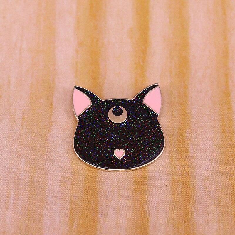 Marinheiro lua luna glitter esmalte pino bonito gato e anime amante jóias