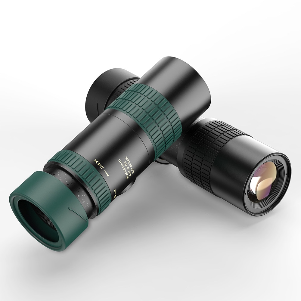 Монокулярный телескоп 8-24x30 мм, качественный портативный бинокль с супер зумом, для охоты, ночного видения, для кемпинга