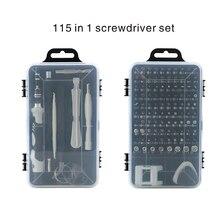 Juego de destornillador 115 en 1, puntas de destornillador multifunción de precisión, Torx, ordenador, teléfono móvil, herramientas de reparación para el hogar, PH2 T5