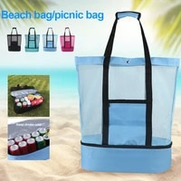 4050cm new multifunctional lunch bags picnic beach food insulation ice cooler bag packing outdoor picnic bags back for camping