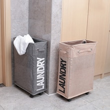 Grands paniers de rangement de vêtements sales sacs à linge imperméables bacs en tissu pliables paniers avec roues Organization de stockage à domicile