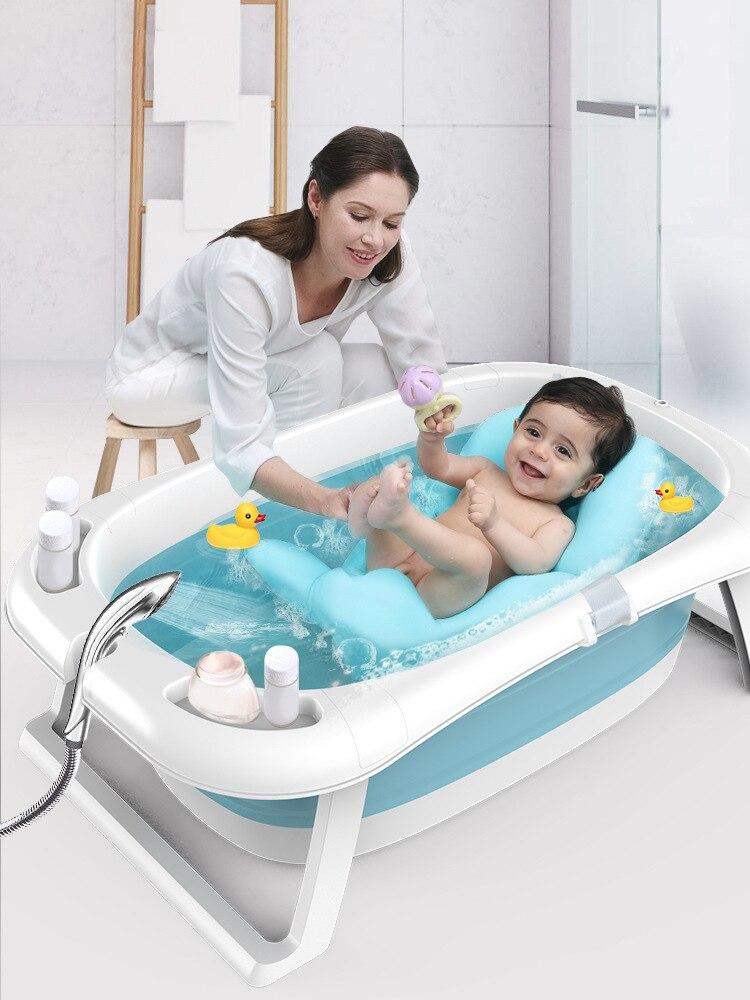 Soporte universal de bañera para niños, Cubo de baño grande alargado, productos para recién nacidos, bañera de bebé plegable