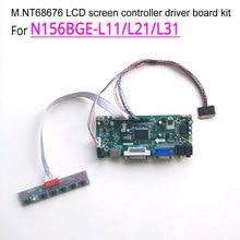 """Für N156BGE-L11/L21/L31 notebook PC LCD HDMI DVI VGA 15,6 """"M. NT68676 bildschirm controller stick bord 1366*768 WLED 40Pin LVDS kit"""