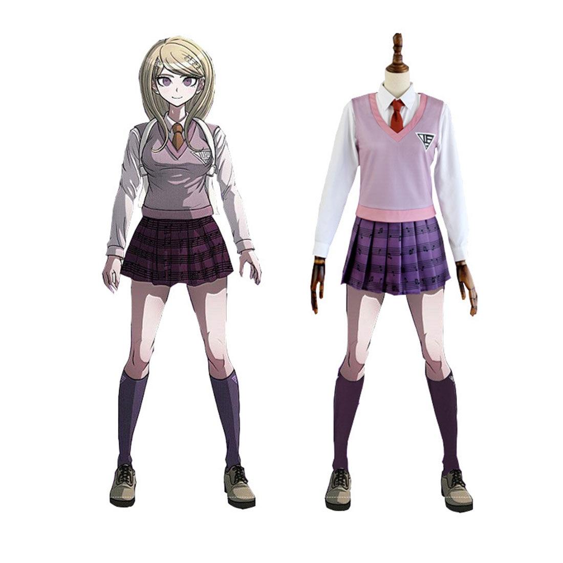 Danganronpa V3 Akamatsu Kaede JK uniforme de la escuela traje de Cosplay-S/M/L/XL/XXL