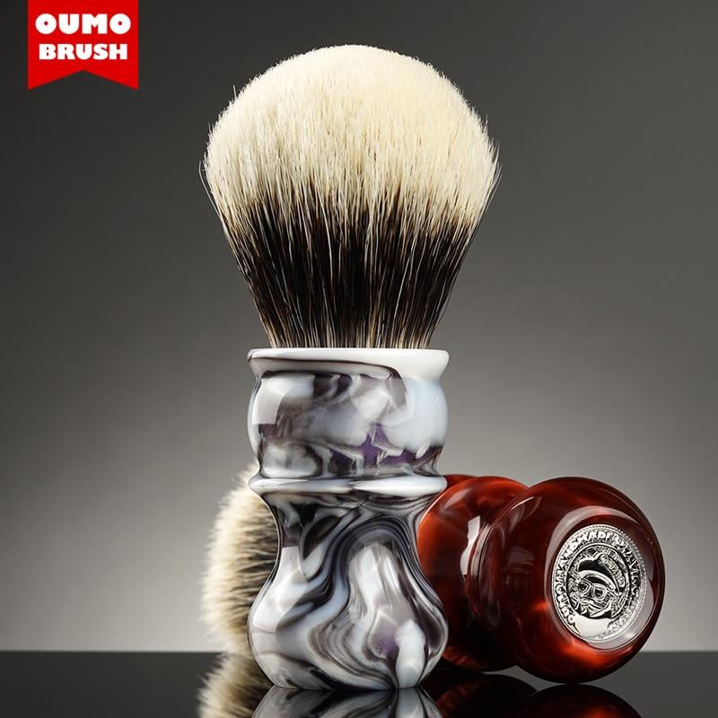 OUMO BRUSH - Ink painting Venus badger shaving brush with Manchuria/ACE/SILK/HOOK/WT