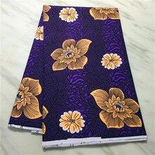 Ankara africain Polyester cire imprime tissu Binta vraie cire haute qualité impression Duplex 6 Yard tissu africain pour robe de soirée cire