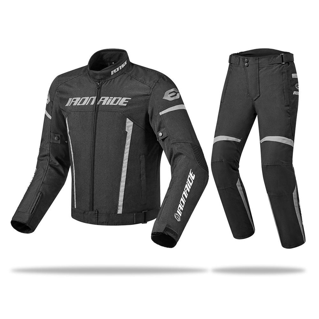 IRONRIDE Motorcycle Jacket & Pants Men Waterproof Riding Racing Moto Clothing Protective Gear Motocross Jacket & Armor Windproof