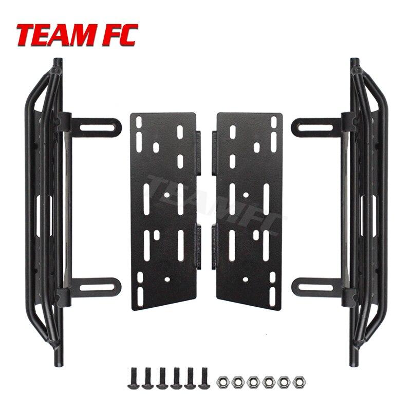 Caja de Pedal y receptor lateral de Metal 2 uds para 1/10 Cherokee Axial Scx10 90046 90047 90048 pie