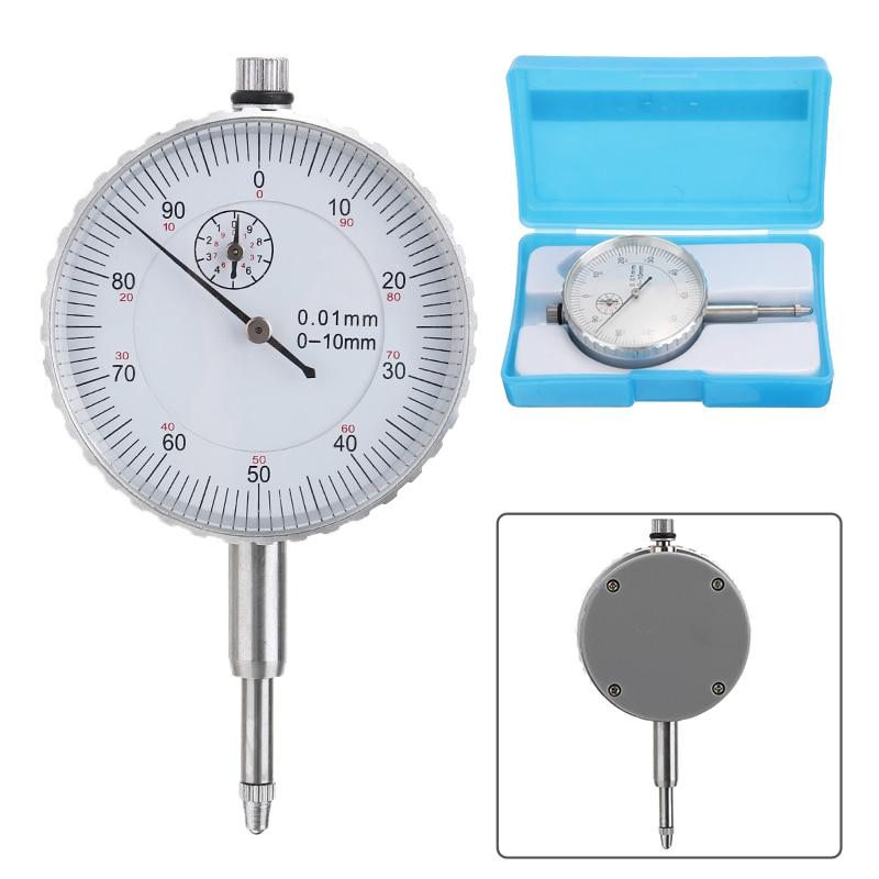 1 ud. Medidor Indicador de esfera redonda de precisión de 0-10mm instrumento de medición Mayitr