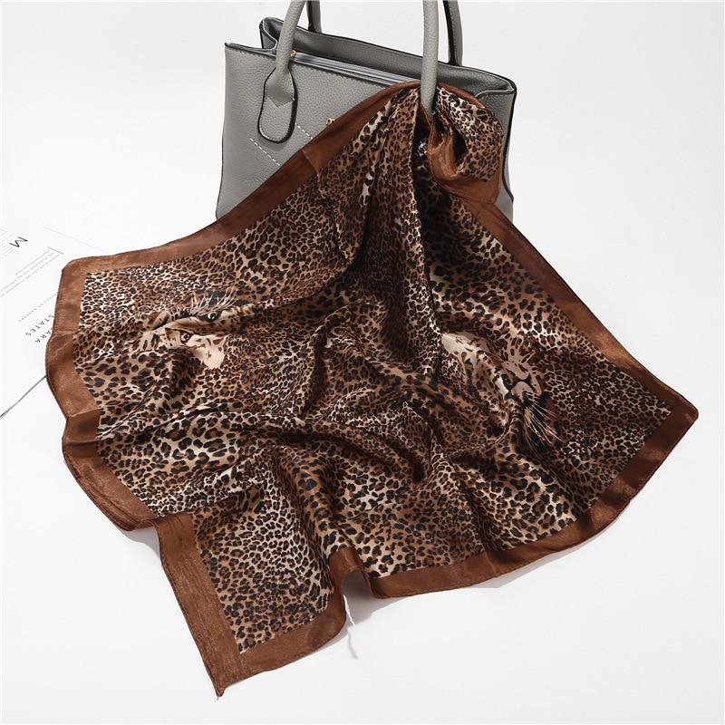 2021 New Silk Hair Scarf Print Lady Neck Foulard Shawl and Wraps Female Kerchief Fashion Designer Ba
