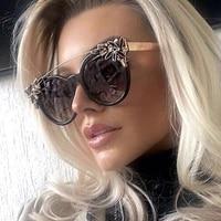 2021 new style fashion cat eye sunglasses women brand designer sun glasses for ladies vintage oculos cateye colorful lens female