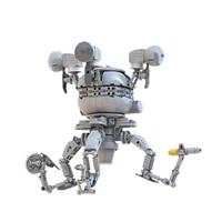 moc creative game series character mister handy robot figure model building blocks diy bricks kids toys for education xmas gifts