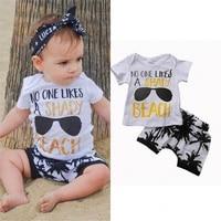aa toddler newborn baby boy 2pcs outfit t shirt topspants shorts clothes set 0 3t