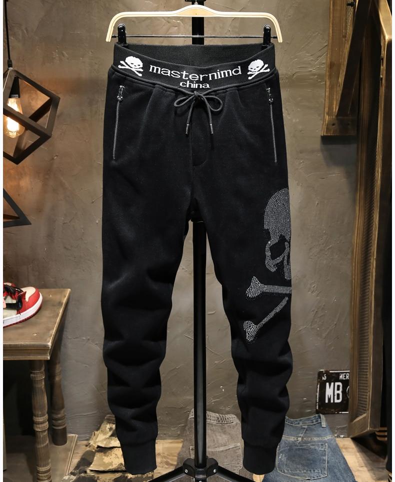 Hot drill winter Men's Casual Hot drill Pants Men's   Trousers Male sweatpants