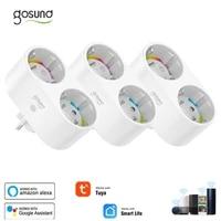 Gosund 16A EU WiFi Smart Plug 2 In 1 Outlet Tuya   Smart Life App Remote Control Home Smart Socket Works With Alexa Google Home