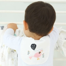 2pcs Cute Baby Wicking Towel Absorb Sweat Back Towel Perspiration Wipes Reusable Cartoon Print Baby Towel