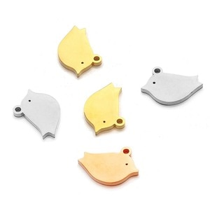 Stainless Steel 16*12mm Small Cute Bird Charm Animal Pendant DIY Jewelry Accessories for Necklace Bracelet