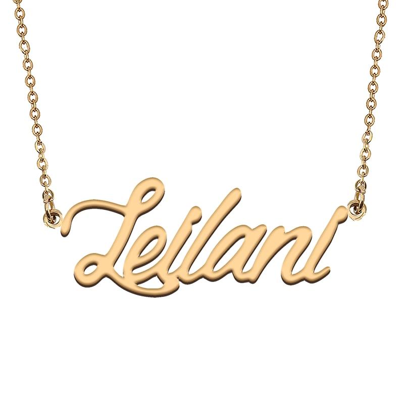 Leilani – collier avec nom personnalisé, ras du cou avec pendentif personnalisé, cadeau de noël pour femmes et filles