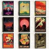 Les x-files affiche serie TV Vintage impressions et affiches cafe Bar chambre mur autocollant Art peinture decor a la maison