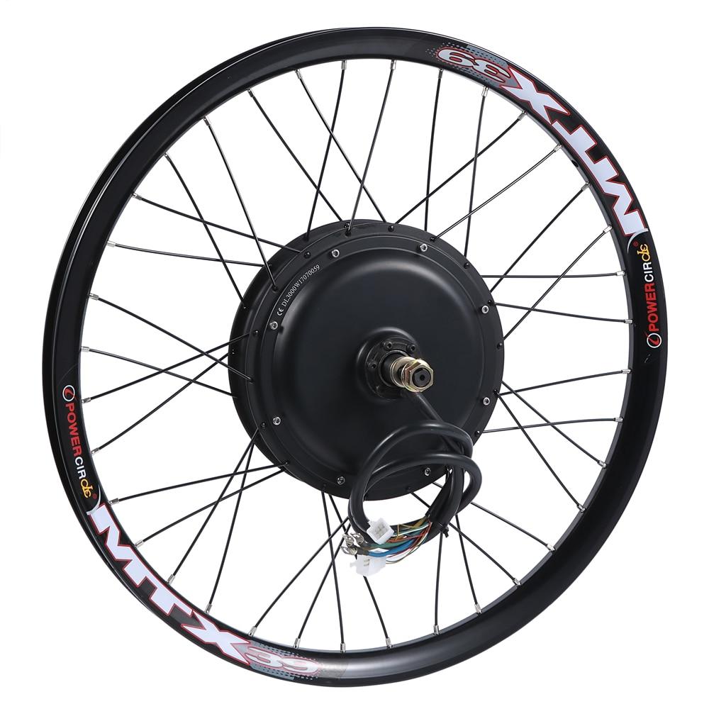 Rueda de motor de bicicleta eléctrica 48 v-96 v 3kw adecuada para freno de disco de bicicleta estándar y rueda libre única