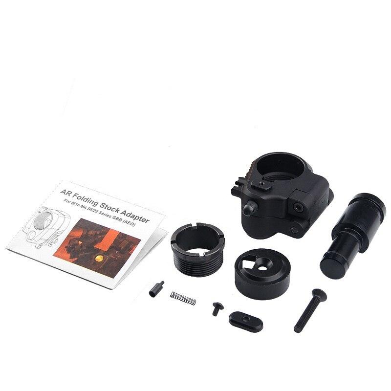 Magorui tático ar dobrável estoque adaptador para m16/m4 sr25 série gbb (aeg) caça acessórios