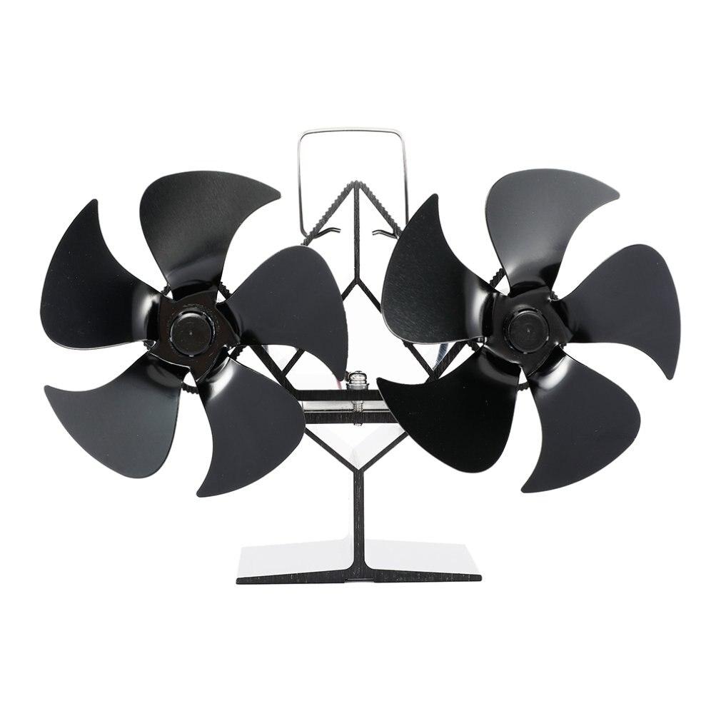 SF201S Thermal Power Fireplace Heater Five Blades Fireplace Heating Fan Efficient Air Heater Low Noise Fan