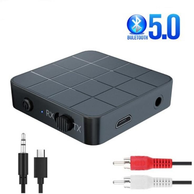 Bluetooth 5.0 Receiver Transmitter 3.5mm AUX Jack Stereo Music 2-in-1USB Adapter for TV PC Car Speak