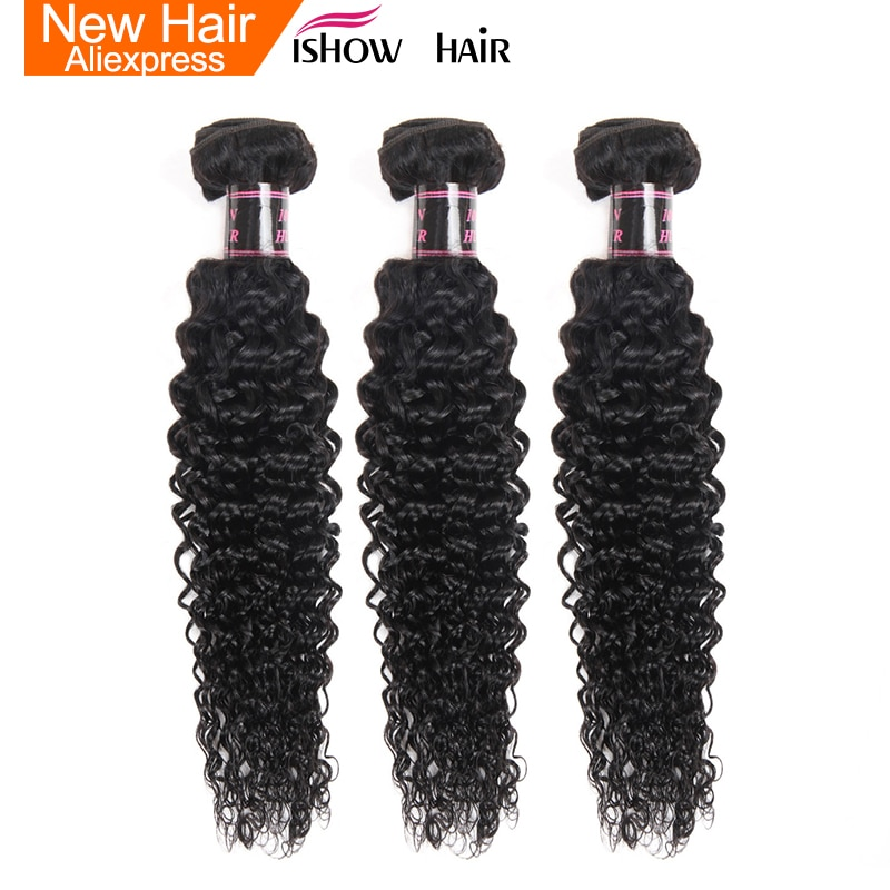 Ishow Haar Malaysische Lockige Haarwebart Bundles 100% Menschliches Haar Bundles Natürliche Farbe Nicht Remy Haar Extensions 1/3 /4 Bundles Angebote