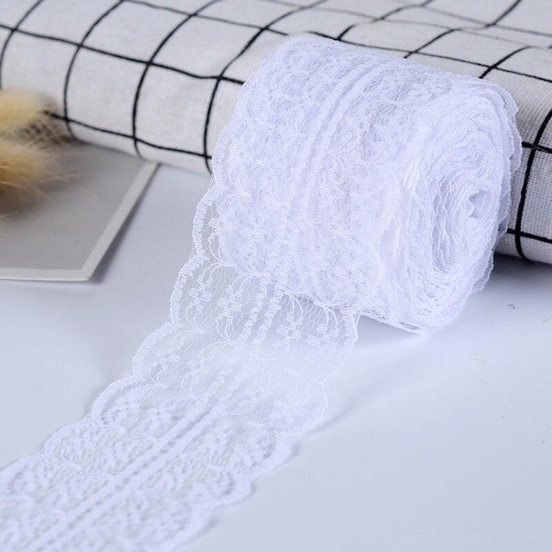 10 metros/lote 4,5 cm cinta de encaje DIY ropa tejido de costura blanco negro azul rosa púrpura rojo encaje recorte regalo embalaje cinta de encaje