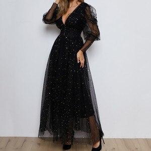 Evening Dresses Ever Pretty Sequins Elegant V-Neck Ruffles Chiffon Formal Evening Gown Slim Party Dress Robe De Soiree party
