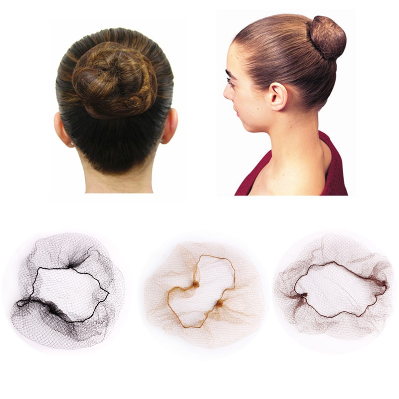 10/30Pcs 20Inch Disposable 5mm Nylon Hairnet Hair Nets For Wigs Weave Invisible Dancing Hairnet for