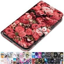 For Case Samsung Galaxy J4 Plus 2018 J4 Core J330 J310 J3 2016 2017 Leather Phone Cover Animal Flora