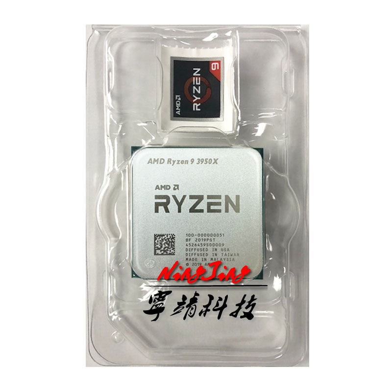 [해외] AMD Ryzen 9 3950X R9 3950X 3.5 GHz 16 코어 32 스레드 CPU 프로세서 7NM L3 = 64M 100-000000051 소켓 AM4 신규 냉각기 없음